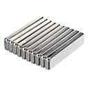 economico Accessori-20 x 5 x 2 millimetri potenti magneti al neodimio - Silver (10 PCS)