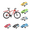 cheap Bike Lights-Bike Fender Mudguards Adjustable Lightweight Anti-Shake / Damping Plastic Cycling Road Bike Mountain Bike MTB Red Green Blue