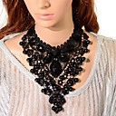 cheap Jewelry Sets-Women's Crystal Bib Choker Necklace / Pendant Necklace / Chain Necklace - Tower Gothic Black Necklace Jewelry 1pc For Party