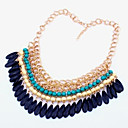 cheap Necklaces-Women's Choker Necklace Statement Necklace Drop Ladies Tassel Vintage Bohemian Adjustable Rose Green Blue Necklace Jewelry For Wedding Party Special Occasion Daily