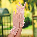 preiswerte Ohrringe-Spitze Handgelenk-Länge Handschuh Brauthandschuhe / Party / Abendhandschuhe / Allzweck-Arbeitshandschuhe Mit Schleife