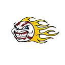 hesapli Oto Stickerları-Ateş Topu Desen Dekoratif Araç plakası