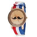 ieftine Seturi de Bijuterii-Unisex Mustache model National Style Flag Fabric Band cuarț încheietura ceas (culori asortate)