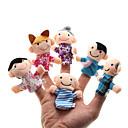 preiswerte Marionetten und Handpuppen-Familie Fingerpuppen Marionetten Niedlich lieblich Neuartige Plüsch Mädchen Spielzeuge Geschenk 6 pcs