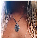 cheap Necklaces-Women's Pendant Necklace - European, Simple Style, Fashion Silver Hamsa Hand Necklace Jewelry 1pc For Party, Daily, Casual