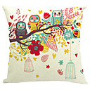 cheap Stickers & Decals-1 pcs Cotton/Linen Pillow Cover, Nature Modern/Contemporary