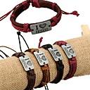 billige Halskæder-Herre ID armbånd Læder Armbånd Læder Kærlighed Unikt design Mode Armbånd Smykker Mørkerød / Lysebrun / Mørkebrun Til Daglig