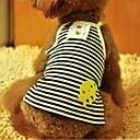 preiswerte Bekleidung & Accessoires für Hunde-Hunde - Sommer - Baumwolle Schwarz / Purpur - T-shirt - XS / S / M / L / XL