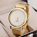 hesapli Kolyeler-Kadın's Bilek Saati Gündelik Saatler Alaşım Bant İhtişam / Moda Altın Rengi