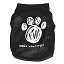 Χαμηλού Κόστους Ρούχα και αξεσουάρ για σκύλους-Γάτα Σκύλος Φανέλα Ρούχα για σκύλους Κινούμενα σχέδια Μαύρο Τερυλίνη Στολές Για κατοικίδια