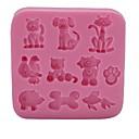 hesapli Fırın Araçları ve Gereçleri-Bakeware araçları Silikon Çevre-dostu / 3D / Kendin-Yap Kek / Kurabiye / Çikolota Hayvan Pişirme Kalıp 1pc