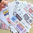 hesapli Araçlar ve Makinalar-postmark kelimesi scrapbooking dekoratif çıkartmalar (6 adet) bezemeler& süsler