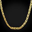 hesapli Kolyeler-Erkek Zincir Kolyeler - Altın Kaplama Altın Kolyeler Uyumluluk Parti