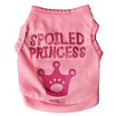 cheap Dog Clothing & Accessories-Cat Dog Shirt / T-Shirt Dog Clothes Tiaras & Crowns Rose Pink Terylene Costume For Pets