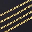 hesapli Kolyeler-Erkek Zincir Kolyeler - Altın Kaplama Altın Kolyeler Mücevher Uyumluluk Yılbaşı Hediyeleri, Parti