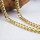 hesapli Kolyeler-Kadın's Figaro Zinciri Zincir Kolyeler - Moda Altın Kolyeler Mücevher Uyumluluk Düğün, Parti, Günlük