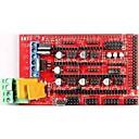 abordables Modules-rampes de robotale 1,4 mendelprusa reprap contrôle 3D de l'imprimante bord - rouge + noir