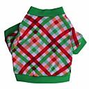 hesapli Köpek Giyim ve Aksesuarları-Kedi / Köpek Tişört Köpek Giyimi Kareli Pamuk Kostüm Evcil hayvanlar için Yaz