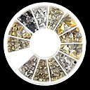 hesapli Makyaj ve Tırnak Bakımı-240 pcs Nail Art Takımı Yapay Elmaslar tırnak sanatı Manikür pedikür Günlük Soyut / Punk / Moda / Metal