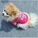 hesapli Köpek Giyim ve Aksesuarları-Kedi Köpek Tişört Köpek Giyimi Harf & Sayı Gül Pamuk Kostüm Evcil hayvanlar için Kadın's Sevimli Günlük/Sade