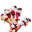 abordables Costumes de père noël-Marionnettes de Doigt Nouveautés Dessin Animé Textile Fille Jouet Cadeau 6 pcs
