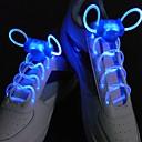 hesapli Ayakkabı Bağcıkları-led spor ayakkabı bağcıkları kızdırma ayakkabı dizeleri yuvarlak flaş ışığı ayakkabı bağcıkları ışık ayakkabı bağcıkları