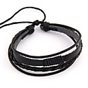 cheap Dog Clothing & Accessories-Women's Wrap Bracelet woven Leather Bracelet Jewelry Black / Coffee For Daily
