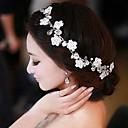 hesapli Saç Takıları-Kadın İnci Yapay Elmas Paslanmaz Çelik Başlık-Düğün Saç Bantları