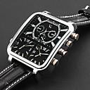 preiswerte Personalisierte Armbanduhren-Personalisierte Geschenke Beobachten, Drei-Zeit-Zonen Analog Quartz Japanischer Quartz Beobachten With Legierung Gehäuse-Material Leder