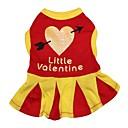 preiswerte Bekleidung & Accessoires für Hunde-Katze / Hund Kleider Hundekleidung Herz Rot Baumwolle Kostüm Für Haustiere