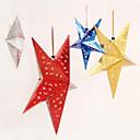 ieftine Decorațiuni-3d, gol în pentagramă pandantiv pentru Crăciun (țeapă&roșu&aur&albastru)