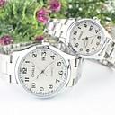 ieftine Ceasuri de Cupluri-Bărbați Pentru femei Pentru cupluri Quartz Argint Analog Negru Alb