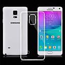 olcso Galaxy Note tokok-Case Kompatibilitás Samsung Galaxy Samsung Galaxy Note Ultra-vékeny Átlátszó Fekete tok Tömör szín TPU mert Note 4