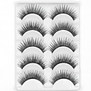 cheap Makeup & Nail Care-5 Pairs Eyelash Volumized Natural-Black-long-Thick false eyelashes for eye-extensions Party Makeup Daily Makeup Thick Natural Long Makeup Tools High Quality Daily