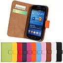 hesapli Galaxy Note Serisi Kılıfları / Kapakları-Pouzdro Uyumluluk Samsung Galaxy Samsung Galaxy Kılıf Kart Tutucu Cüzdan Satandlı Flip Tam Kaplama Kılıf Tek Renk PU Deri için Trend Lite