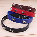 preiswerte Hundehalsbänder, Geschirre & Leinen-Katze Hund Halsbänder Regolabile / Einziehbar Cosplay PU-Leder Schwarz Braun Rot Blau