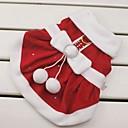 preiswerte Heimbedarf-Katze / Hund Kostüme / Kleider / Weihnachten Hundekleidung Schleife Rot Baumwolle Kostüm Für Haustiere Damen Cosplay / Weihnachten / Neujahr