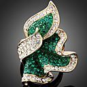 ieftine Cercei-Pentru femei Inel de declarație grup Plin de graţie femei Lux Modă Aur roz Diamante Artificiale Aliaj Inele la Modă Bijuterii Verde Smarald / Fucsia / Albastru Deschis Pentru Petrecere O Mărime