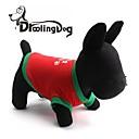 preiswerte Stirnlampen-T-shirt für Hunde / Katzen Rot Frühling/Herbst XS / M / L Baumwolle
