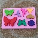 hesapli Çay Takımları-Hayvan kelebek şeklindeki fondan kek çikolata silikon kalıp kek pasta süsleme araçları, l10.6cm * w6.8cm * h1cm