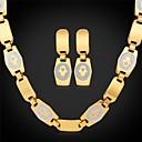 preiswerte Halsketten-u7®hamsa Handflächen Halskette baumeln Ohrringe 18K reales Gold überzog Halsketten-Schmuck-Set