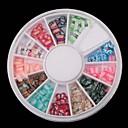 ieftine Artă Ștrasuri Colorate-1 pcs Bijuterie unghii Artă unghii polimerice Încântător nail art pedichiura si manichiura Fructe / Unghiul de bijuterii