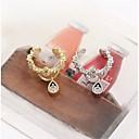 preiswerte Ohrringe-Synthetischer Diamant Ohr-Stulpen - Tropfen Geburtssteine Silber / Golden Für Hochzeit Party Alltag