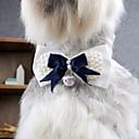 Χαμηλού Κόστους Ρούχα και αξεσουάρ για σκύλους-Γάτα Σκύλος Γραβάτα / Παπιγιόν Ρούχα για σκύλους Φιόγκος Μπλε Τερυλίνη Στολές Για Άνοιξη & Χειμώνας Καλοκαίρι Ανδρικά Γυναικεία Γάμος Μοντέρνα