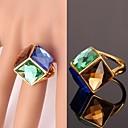hesapli Yüzükler-Kadın's Bildiri Yüzüğü - Kristal, Altın Kaplama, alaşım Moda Mavi Uyumluluk Düğün / Parti / Günlük / Spor