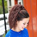 ieftine Machiaj & Îngrijire Unghii-Clasic Buclat Kinky Curly Coadă de cal Calitate superioară Fir de păr Extensie de păr Maro Închis Zilnic