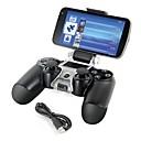 hesapli PS4 Aksesuarları-akıllı telefon PS4 denetleyici gamepad için braket depolama tutucu + şarj kablosunu monte