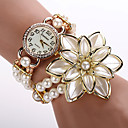 Buy Fashion Quartz Watch Women Dress Pearl Flower Wristwatch Luxury Gold Relogio Feminino Electronics Cool Watches Unique
