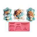 hesapli Fırın Araçları ve Gereçleri-Klasik çiçek vazo şeklinde fondan kek çikolata silikon kalıp, kek dekorasyon araçları, l12.8cm * w5.9cm * h1.2cm
