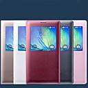 hesapli Galaxy A Serisi Kılıfları / Kapaklar-Pouzdro Uyumluluk Samsung Galaxy Samsung Galaxy Kılıf Pencereli Flip Tam Kaplama Kılıf Tek Renk PU Deri için A5